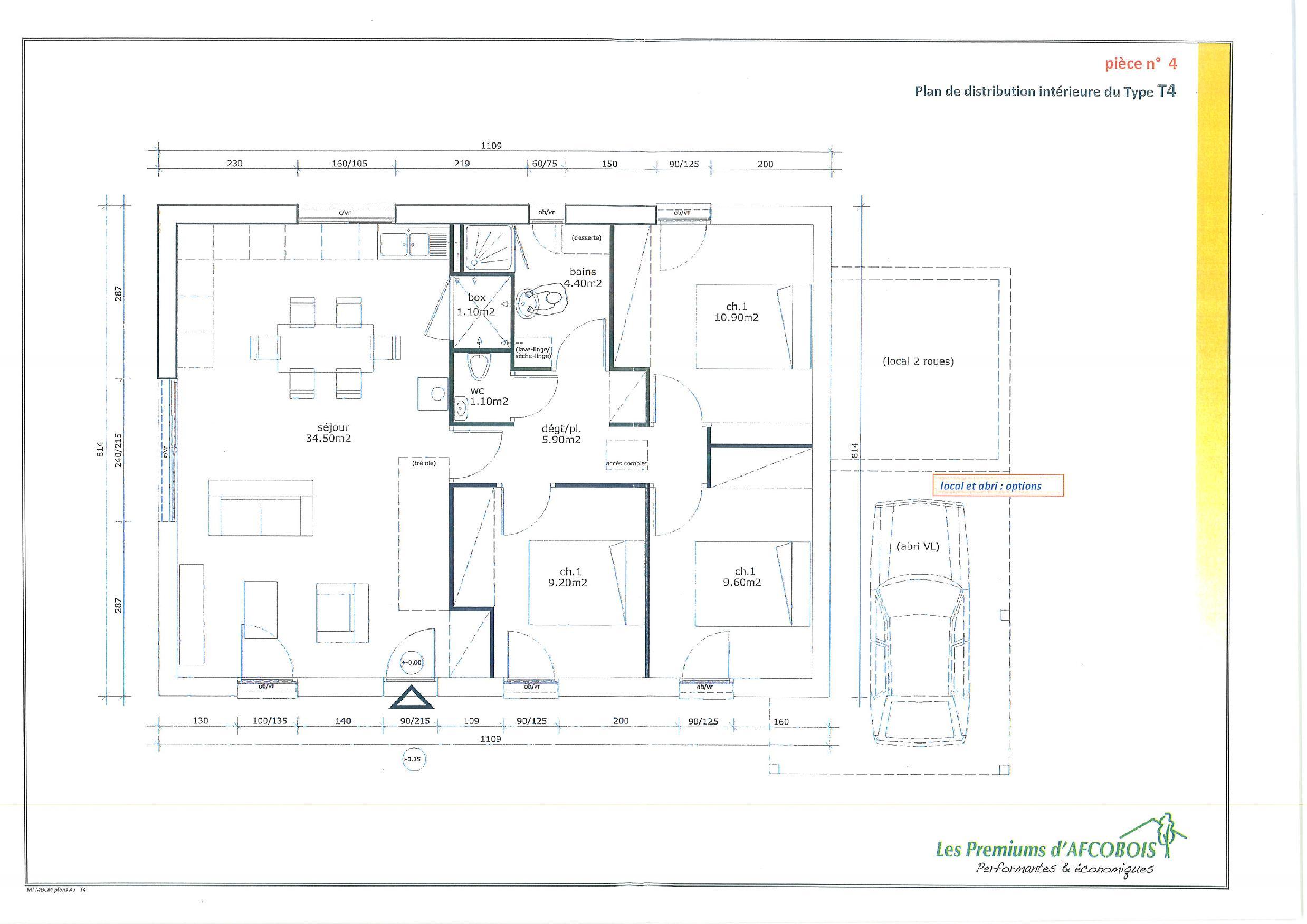 Plan De Maison 3 Chambres Modele Habitat Concept 43